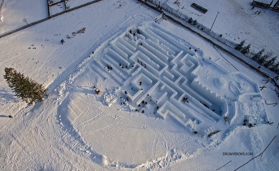 Labirynt śnieżny w Polsce