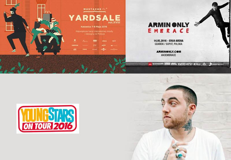 Mac Miller, Young Stars, Mustache Yard Sale i inne, czyli najgorętsze wydarzenia w maju!