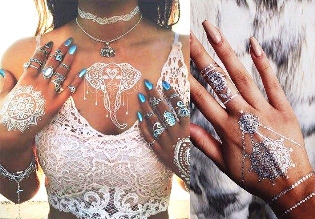 Metaliczne tatuaże - jak je nosić? (dużo zdjęć!)