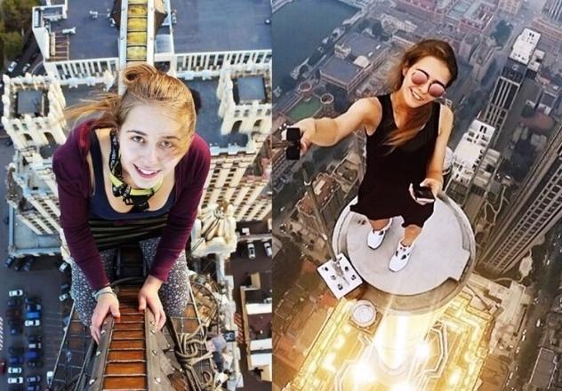 Najbradziej ekstremanle selfie. Zobacz, co potrafi zrobić ta Rosjanka dla perfekcyjnych zdjęć!