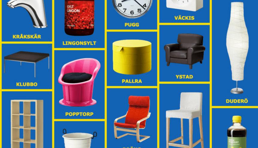 Skąd właściwie Ikea bierze nazwy produktów?