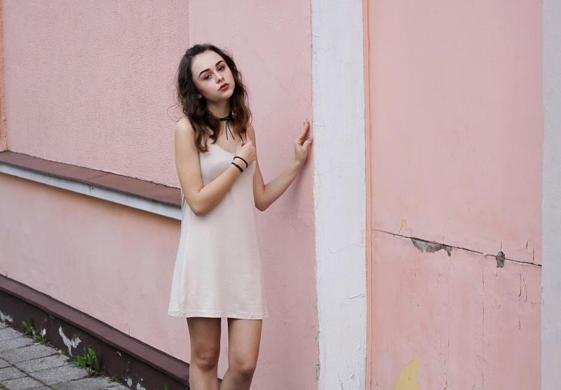 Sukienka na dwa sposoby - Peachy