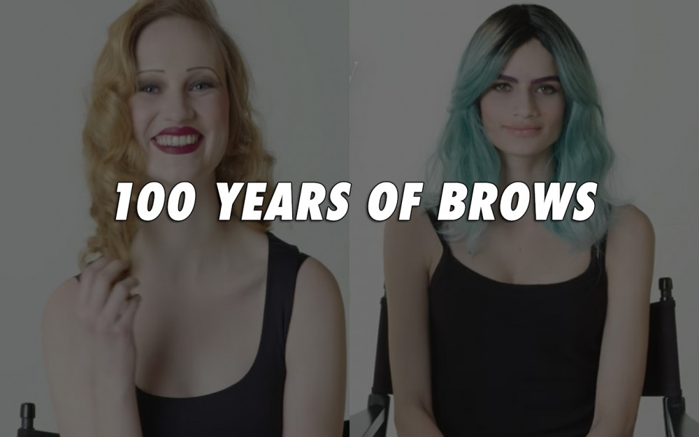Zobacz jak zmieniała się moda na brwi na przestrzeni ostatnich 100 lat!
