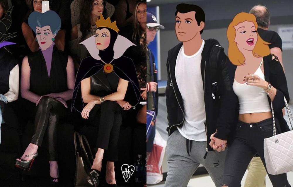 Zobacz jak wyglądałyby postacie Disneya w roli celebryty!