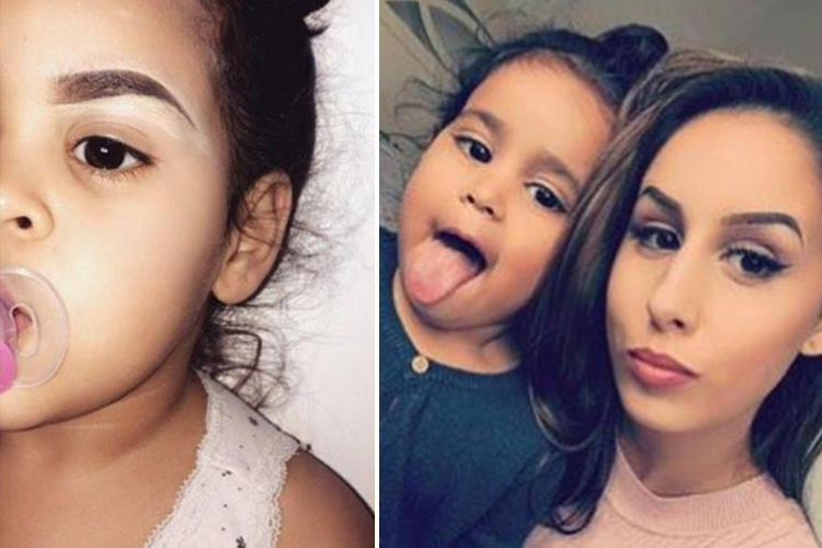 2 – letnia dziewczynka ma idealne brwi niczym Kim Kardashian!