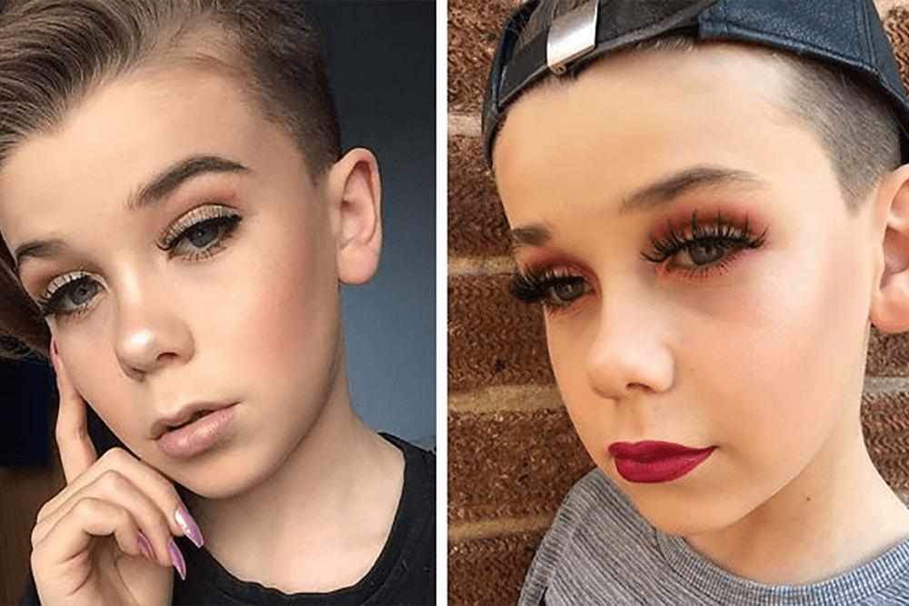 10-letni chłopak maluje się lepiej niż niejedna dziewczyna!