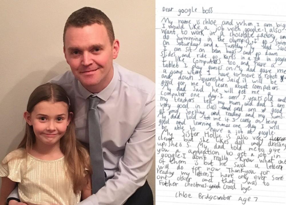 7 – letnia dziewczynka wysłała podanie o pracę do Google. Zobacz jaką dostała odpowiedź!