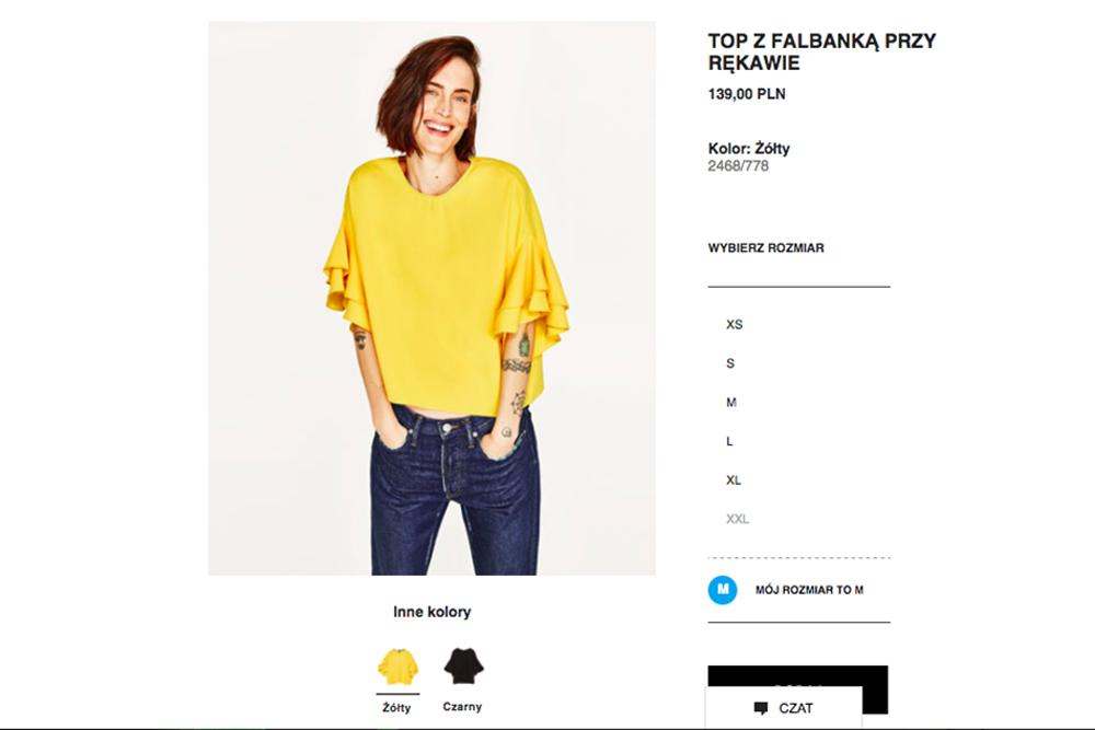 Zara pomoże Ci znaleźć odpowiedni rozmiar ubrań!