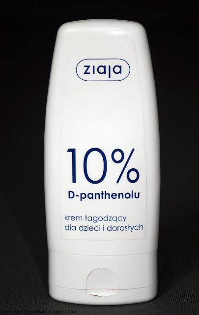 Kosmetyczne inspiracje: Ziaja - Krem łagodzący 10% D-panthenolu dla dzieci i dorosłych