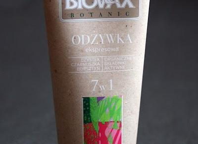 Kosmetyczne inspiracje: L'biotica - Biovax Botanic - Odżywka ekspresowa 7 w 1