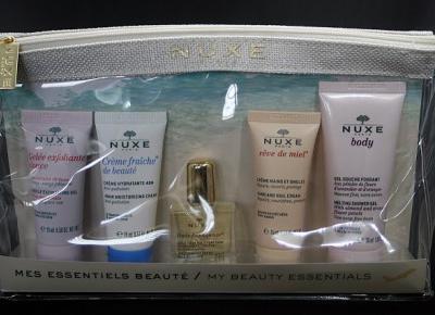 Kosmetyczne inspiracje: UNBOXING - Zestaw miniatur Nuxe