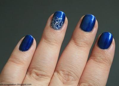 Kosmetyczne inspiracje: Stylizacja paznokci - Semilac 085 Deep Ocean + Rainbow Effect