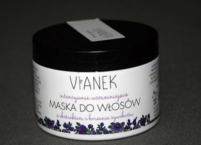 Kosmetyczne inspiracje: Sylveco - Vianek - Intensywnie wzmacniająca maska do włosów