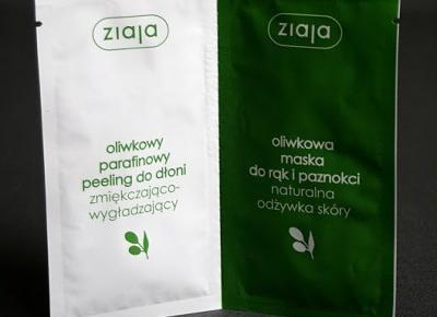 Kosmetyczne inspiracje: Ziaja - Oliwkowa - Duo-saszetka peeling + maska do rąk