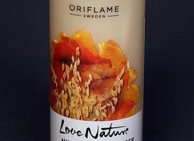 Kosmetyczne inspiracje: Oriflame - Love Nature - Pianka oczyszczająca z owsem