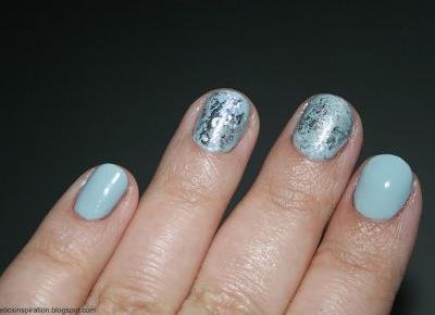 Kosmetyczne inspiracje: Stylizacja paznokci - Semilac 167 Surfer Wave + folia transferowa