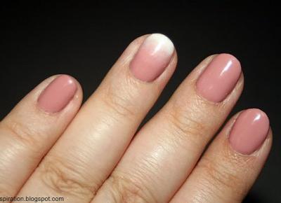 Kosmetyczne inspiracje: Stylizacja paznokci - Semilac 004 Classic Nude + Semilac 001 Strong White