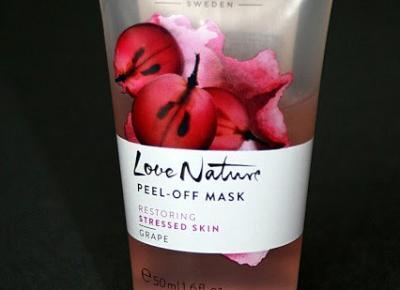 Kosmetyczne inspiracje: Oriflame - Love Nature - Złuszczająca maseczka peel-off z ekstraktem z winogron