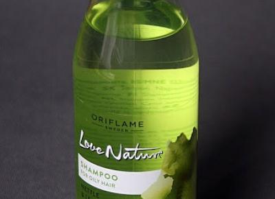 Kosmetyczne inspiracje: Oriflame - Love Nature - Szampon z pokrzywą i cytryną do włosów przetłuszczających