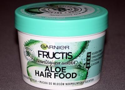 Kosmetyczne inspiracje: Garnier Fructis - Hair Food - Nawilżająca maska aloesowa