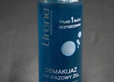 Kosmetyczne inspiracje: Lirene - Dermoprogram - Dwufazowy żel do demakijażu oczu i twarzy