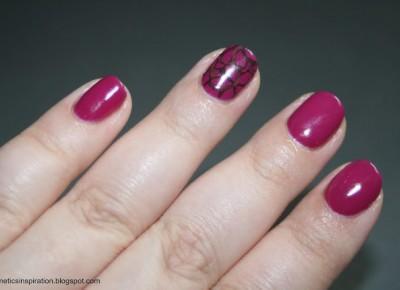 Kosmetyczne inspiracje: Stylizacja paznokci - Semilac 012 Pink Cherry + Delia Cosmetics Hybrid Gel Colour