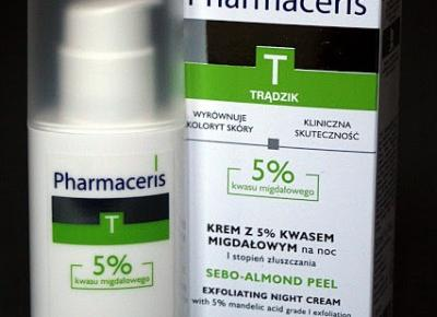 Kosmetyczne inspiracje:  Pharmaceris T - Krem z 5% kwasem migdałowym na noc I stopień złuszczenia