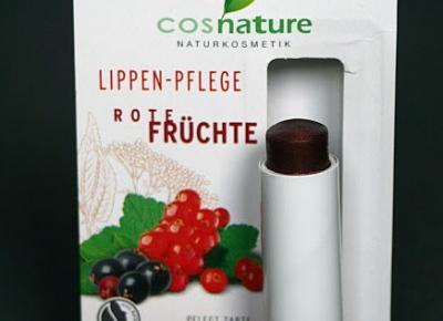 Kosmetyczne inspiracje: Cosnature - Balsam ochronny do ust z ekstraktem z czerwonych owoców