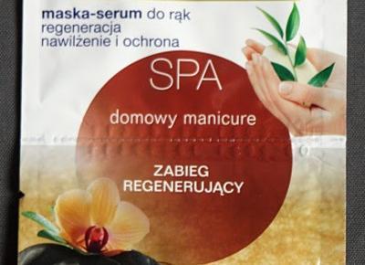 Kosmetyczne inspiracje: Dax Cosmetics - Perfecta SPA - Zabieg regenerujący domowy manicure - Peeling + maska-serum do rąk