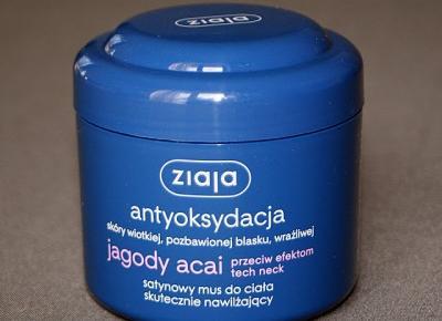 Kosmetyczne inspiracje: Ziaja - Jagody Acai - Satynowy mus do ciała