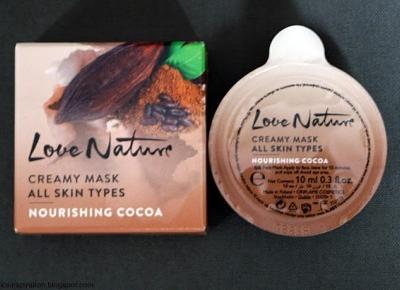 Kosmetyczne inspiracje: Oriflame - Love Nature - Odżywcza maseczka z kakao