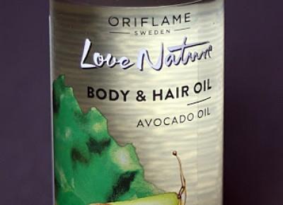 Kosmetyczne inspiracje: Oriflame - Love Nature - Olejek do ciała i włosów z awokado