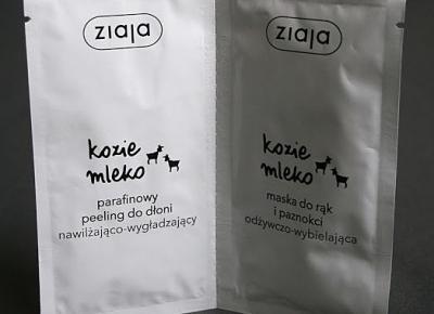 Kosmetyczne inspiracje: Ziaja - Kozie mleko - Duo-saszetka peeling + maska do rąk