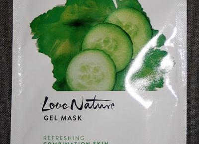 Kosmetyczne inspiracje: Oriflame - Love Nature - Odświeżająca żelowa maska z ogórkiem