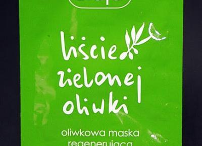 Kosmetyczne inspiracje: Ziaja - Liście zielonej oliwki - Oliwkowa maska regenerująca z kwasem hialuronowym
