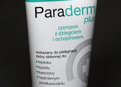 Kosmetyczne inspiracje: Paramedica - Paraderm Plus - Szampon z dziegciem i octopiroxem