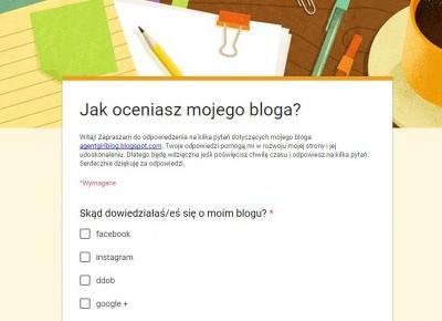Jak oceniasz mojego bloga?