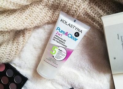 Kosmetyki moim życiem: Aktywny żel peelingujący do mycia twarzy 2w1 Pure&Clear;, Kolastyna