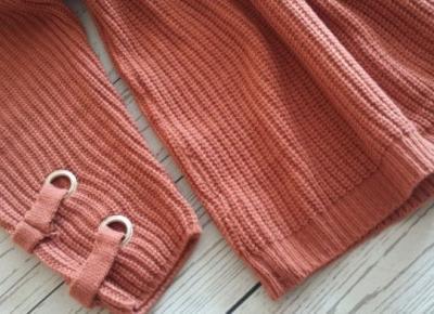 Sweterek z wiązaniem z GearBest.com - AliLove.pl