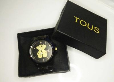 Czarno-złoty zegarek TOUS - AliLove.pl