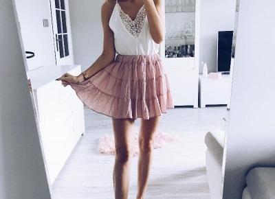 Różowa spódniczka z Aliexpress- Aliside.com