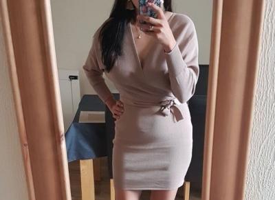 Sweterkowa sukienka z Aliexpress- Aliside.com