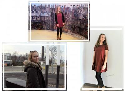Marysia Chudy: Luźna bordowa sukienka + rozdanie