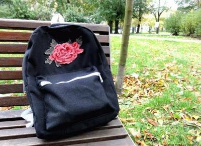 Marysia Chudy: Klasyczna, jesienna stylizacja | plecak z naszywką DIY, szal, płaszcz i inne