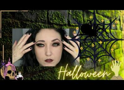 🎃 🕷 🕸Hallow's Black Widow Makeup 👁🧛‍♀️