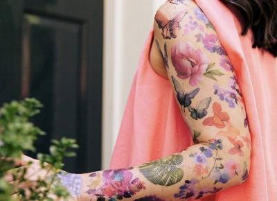 To może być hit! Pachnące tatuaże (przepięknie pachną kwiatami i ziołami)