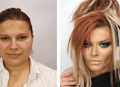 15 zdjęć pokazujących zwykłe kobiety w makijażu i bez. NIE UWIERZYSZ!!