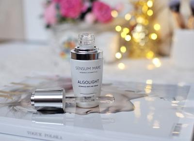 ALGOLIGHT zaawansowane serum do cery tłustej i mieszanej od Sensum Mare - kosmetyk który uratował moją skórę | A real shopaholic