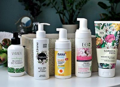 Tanie i dobre produkty do mycia twarzy z dobrym składem -  dostępne w Rossmann, Hebe i Triny.pl | A real shopaholic
