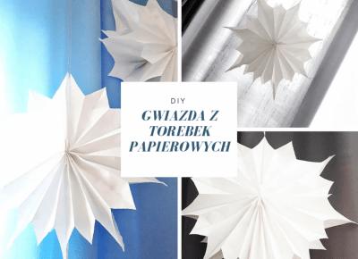 DIY - Piękna i bardzo prosta gwiazda 3D z torebek papierowych - super pomysł na świąteczną dekorację, którą zrobisz w mniej niż 5 minut